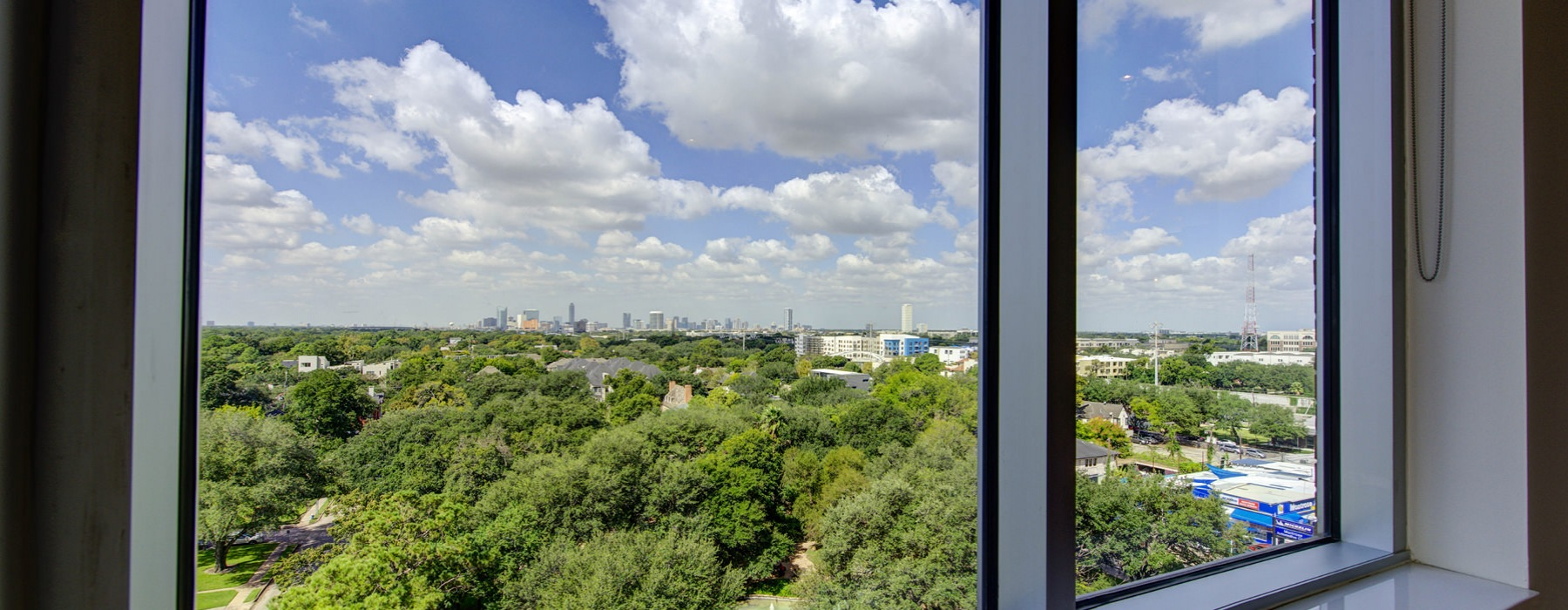 apartment view of Houston skyline